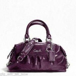 Handbags - NEW Coach Ashley Satchel - Dark Plum